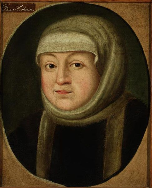 Portrait of Bona Sforza, the Queen of Poland and the Great Princess of Lithuania (unknown painter)