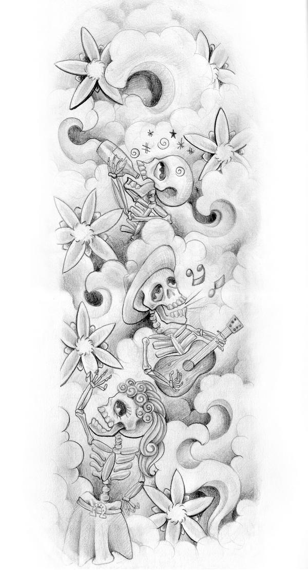 Life Tattoo: Mexican Skeleton Tattoos