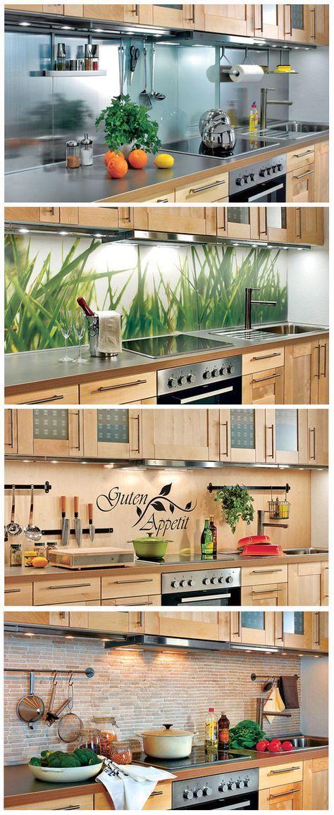 Eine Küchenrückwand muss nicht immer aus Fliesen gemacht sein. Wir haben vier verschiedene Varianten für den Küchenspiegel zusammengetragen und wie man diese einbaut.