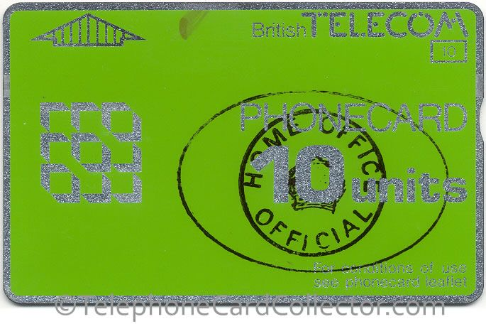 Home Office Official - Prison use - BT Phonecard - 10unit - CN: 891C (not inverted)