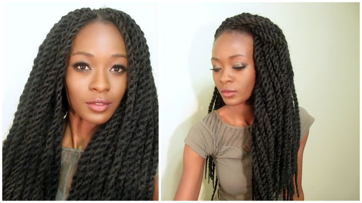 Realistic Senegalese Twist Crochet Braids With Individual Twist Perimete...