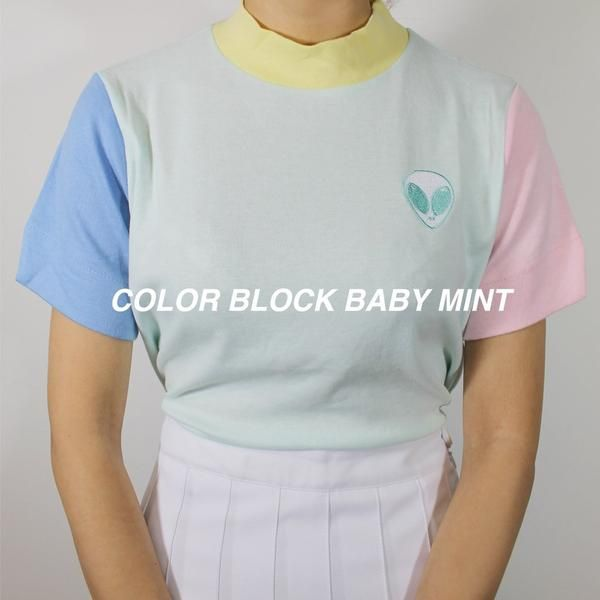 Pastel Color Block Top Color Block Tee Aesthetic Clothes Pastel Colors Fashion