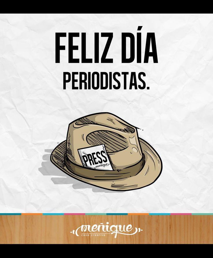 Feliz Día Periodistas!  Meñique Casa Creativa. #somosmenique #FelizDiaDelPeriodista #Periodista #FelizDia
