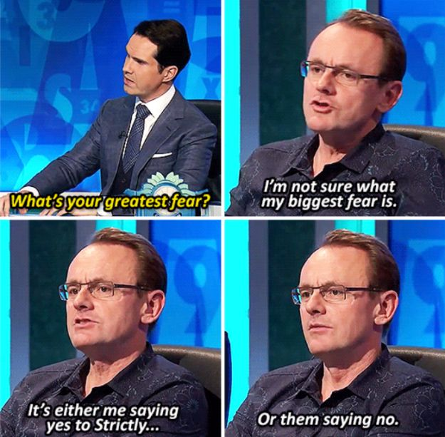 When he expressed his greatest fear. | 19 Times Sean Lock Was The Most Absurdly…