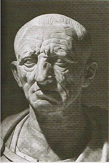 "Cato the Elder 234 BC – 149 BC.  Served as tribune, aedile, prator, consul, censor.  Known for trying to preserve the mos majorum (""ancestral custom"") and combat ""degenerate"" Hellenistic influences."