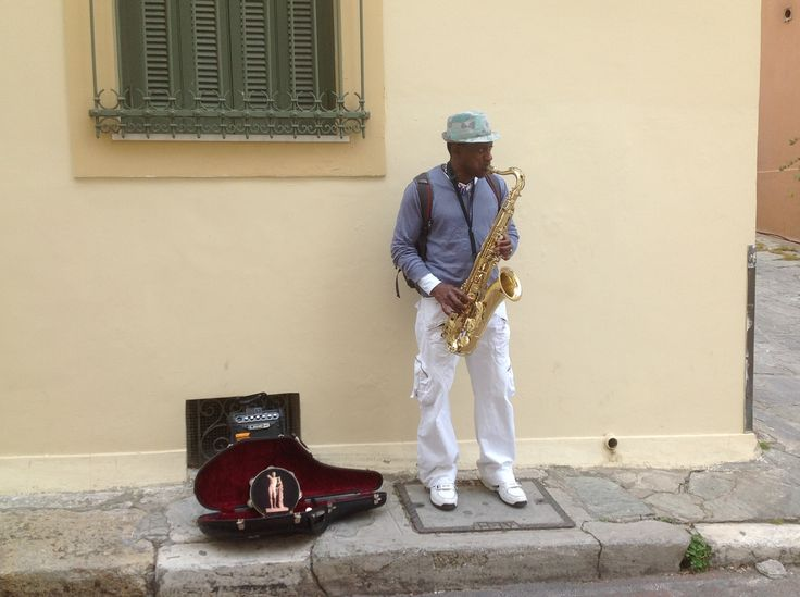 Monastiraki in Athens... marvelous musician...