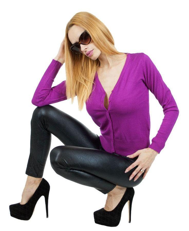 Pulover Dama Electric Pink  Pulover dama stil cardigan, din material moale. Poate fi purtat atat in sezonul cald cat si in cel rece. Se inchide cu nasturi.     Lungime: 52cm  Latime talie: 36cm  Compozitie: 50%Vascoza, 50%Lana