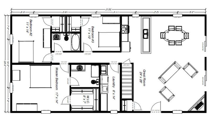Barn house floor plans functional floor plan for Functional floor plans