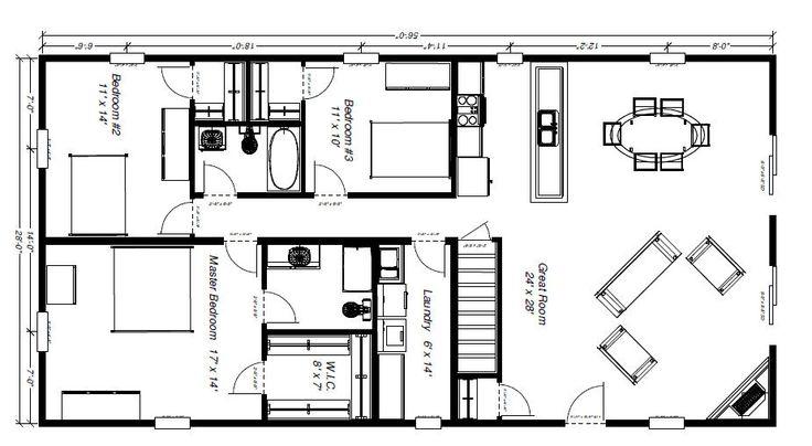 Barn house floor plans functional floor plan for Functional house plans
