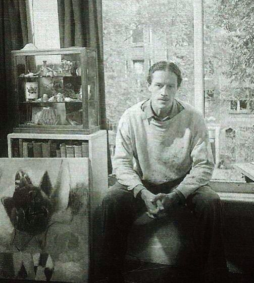 Eugène Brands, Dutch painter, member of the Cobra movement, 1914-2002.
