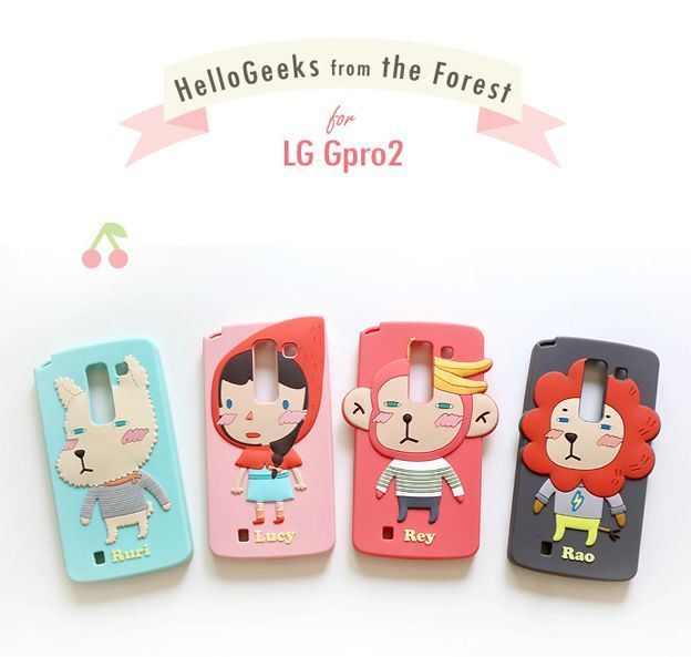 LG G Pro 2 Romane Hello Geeks Adorable Character Case