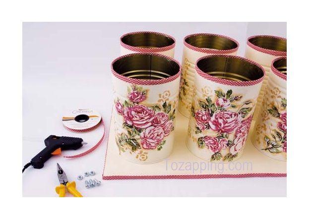 Paso a paso manualidades con latas de leches decoraci n - Reciclaje manualidades decoracion ...