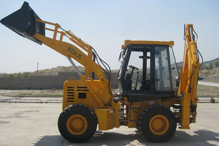 Pictures of WZ30-25 hot sale backhoe loader | 4-wheel driven | 1m3 loading bucket & 0.3m3 digging bucket | china backhoe loader with cummins engine | www.henglida-china.com,