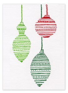 Marker lines filling ornament shapes. See my tutorial. #christmascard #Sharpie