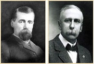 James Ganong (left) Gilbert W. Ganong (right) In 1873 James Harvey (1841-1888) and Gilbert White Ganong (1851 - 1917) founded Ganong Bros. Limited in St. Stephen, NB. It is Canada's oldest candy company. In 1884 the partnership was dissolved. James expanded into a successful soap production and Gilbert maintained the candy company known as Ganong Brothers.