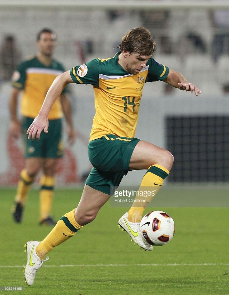Brett Holman of Australia controls the ball during the AFC Asian Cup quarter final match between the Australian Socceroos and Iraq at Al-Sadd Stadium on January 22, 2011 in Doha, Qatar.