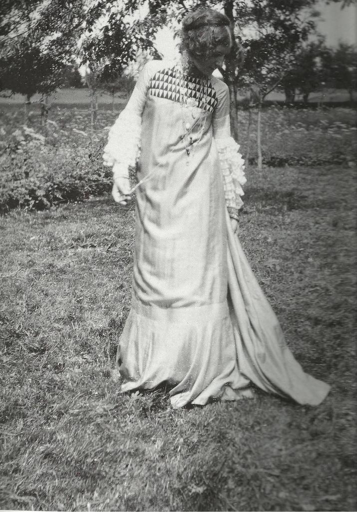 Emilie Jogle dans une création de son compagnon Gustav Klimt.