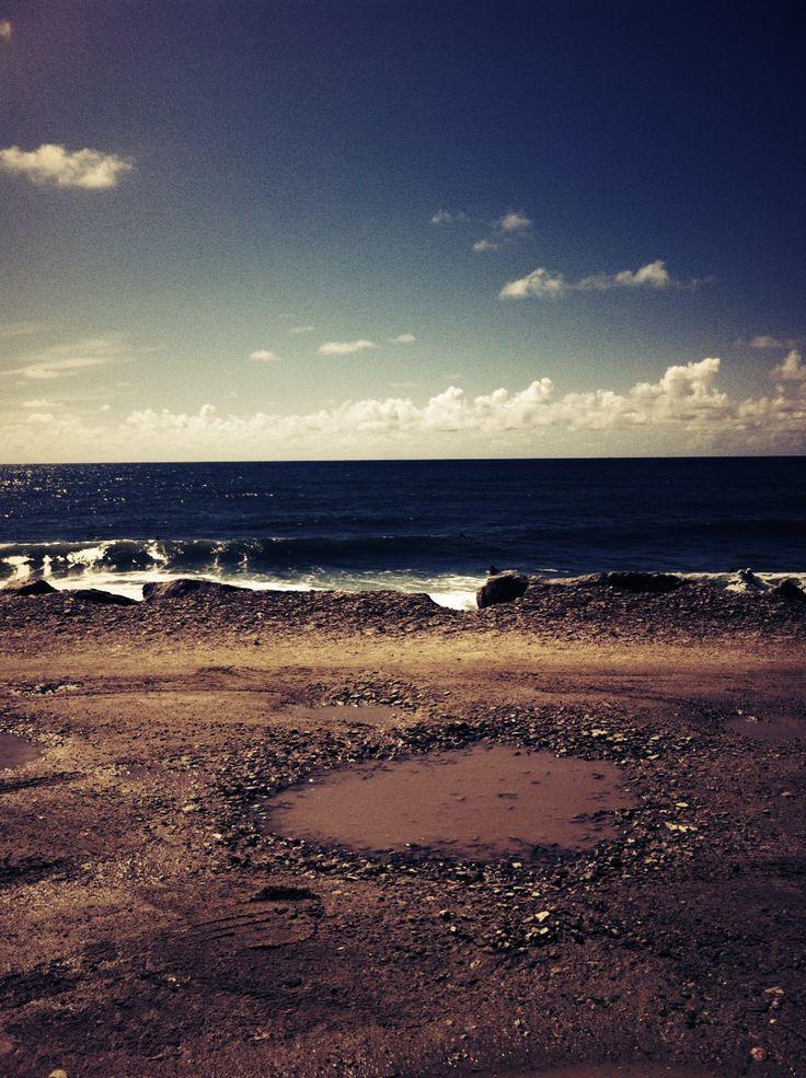 When the land meets the sea. Esmoriz, March, 2013
