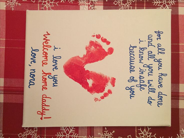 Welcome home daddy canvas. Deployment sign.