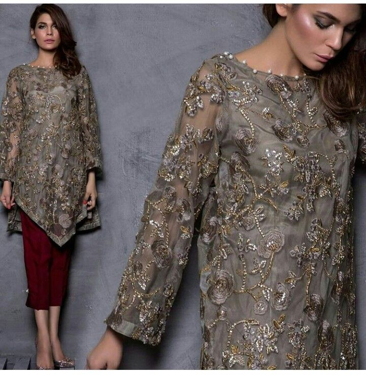 Lace dress designs pakistani