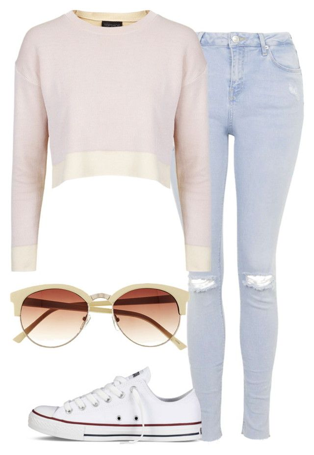 """""""Untitled #2370"""" by ana-bieber ❤ liked on Polyvore featuring Topshop, Converse, Vince Camuto, women's clothing, women, female, woman, misses and juniors"""