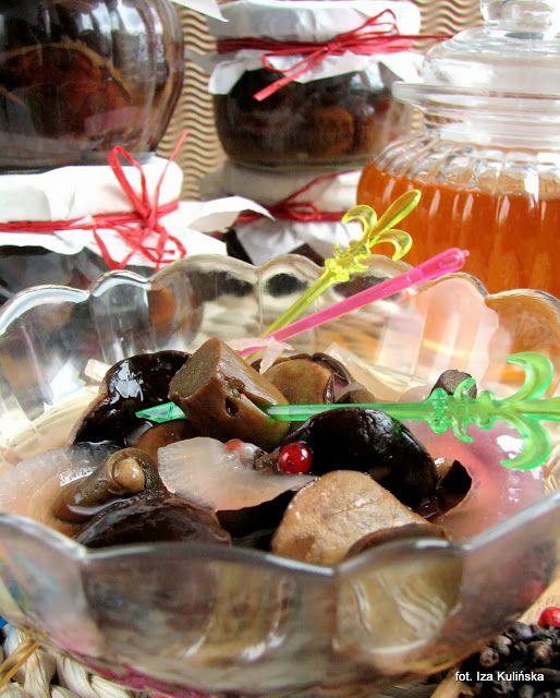 Smaczna Pyza: Borowiki z marynacie miodowej