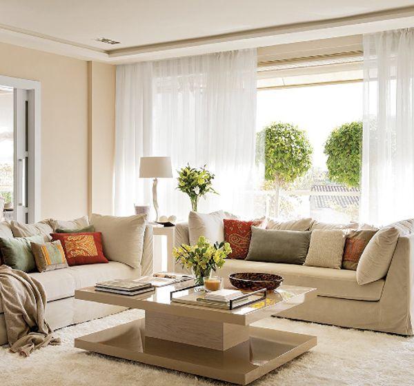 Una tranquila casa en tonos neutrosA calm home in a soft palette