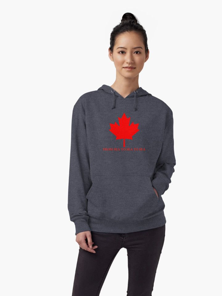 Canada From Sea to Sea To Sea Lightweight Hoodies by Terrella