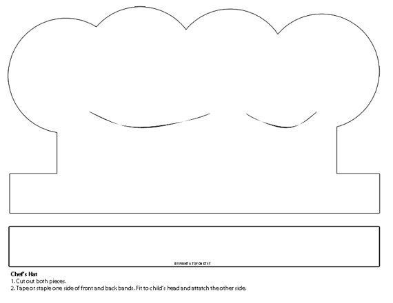 Eloquent image for chef hat template printable