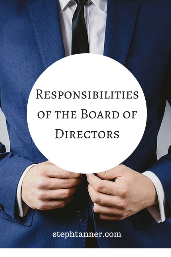 role of board of directors The car analogy a few years ago i heard a car analogy that has stuck with me it goes something like this— in the car analogy we have a.
