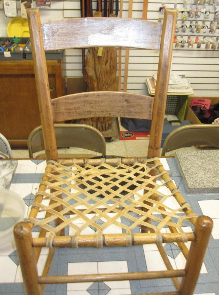 Rawhide Chair Re-lacing Project 12/2012
