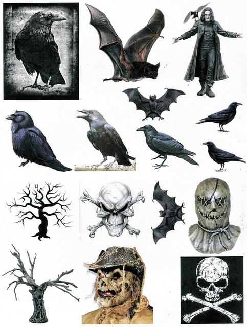 free raven spooky printables