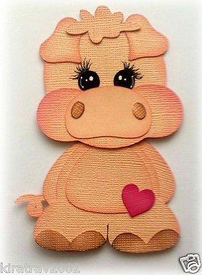 Baby Farm Pig Premade Paper Piecing Animal Kids By My Tear Bear *kira*