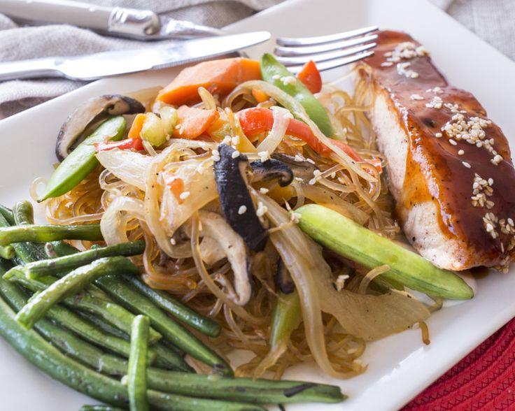 SPICY KOREAN GLAZE ~ Pan Seared Salmon with Spicy Korean Sesame Glaze ...