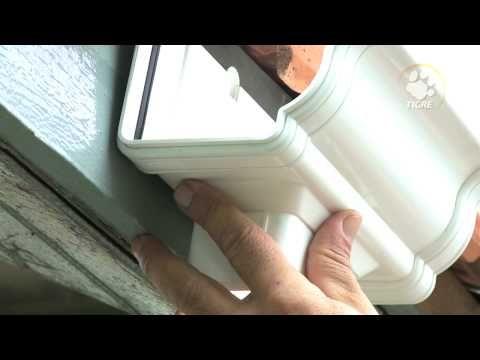 Instalação de Calha Aquapluv Style TIGRE - HD - YouTube