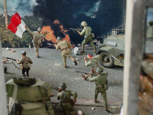 1/35 Diorama perjuangan Surabaya 1945, by ademodelart
