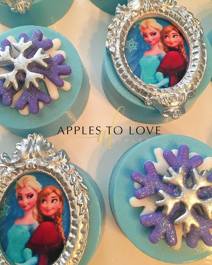 Happy Birthday to special 6 year old princess. #frozentheme #candyapples #chocolatecoveredoreos #kidsparties #birthdays #applestolove #atlanta #eventstylist
