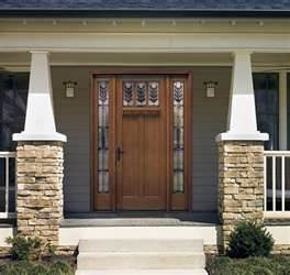 arts u0026 crafts style front home exterior design stone wood door mission