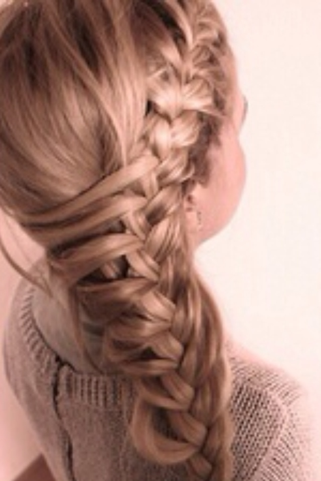 Cute lace/French braid