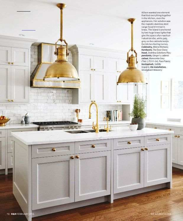 My Notting Hill Note Stainless Steel Hood Trimmed With Brass Pulling It All Together My Notting Hill Note In 2020 Kitchen Renovation Home Decor Kitchen Kitchen Trends
