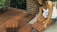 Interlocking Deck Tiles for Easy Transformation of patios, basements, porches, etc.