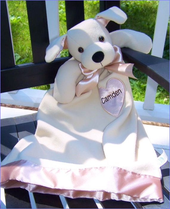 Personalized Jack Terrior, Security Blankie, Monogram Bear, Baby Secuirty Blanket, Baby Shower Gift, Toddler Birthday Gift, Monogram Baby by breezyoaksdesigns. Explore more products on http://breezyoaksdesigns.etsy.com
