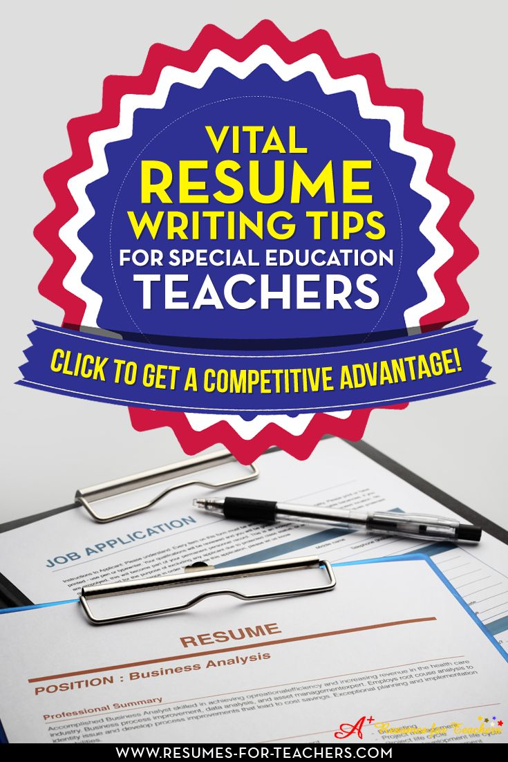 special education resume keywords