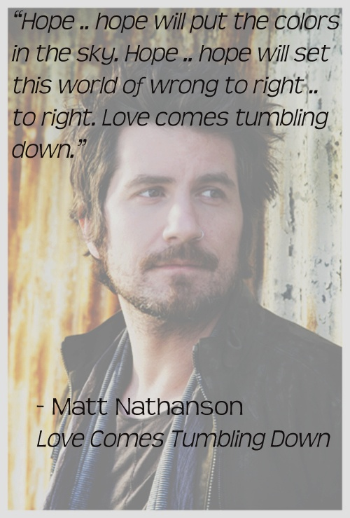 Matt Nathanson, Love Comes Tumbling Down ❤ http://youtu.be/0dLXP_yt8RE