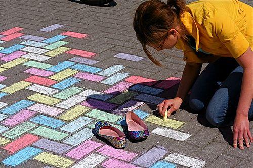 kolorowy chodnik