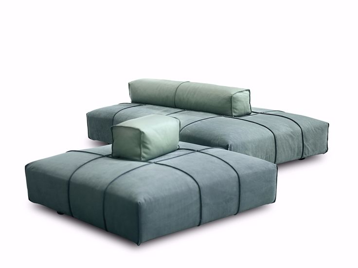 Sectional modular fabric sofa PANAMA BOLD - BAXTER