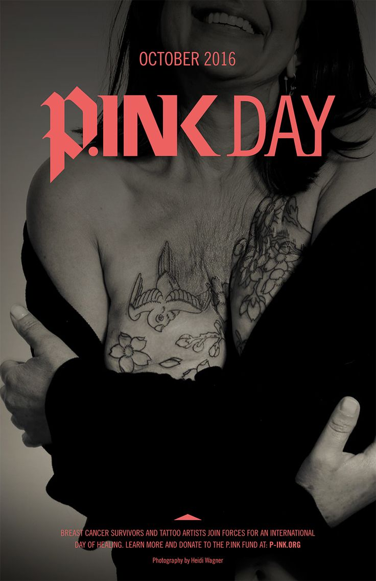 P.ink Day 2016 is coming to 14 North American cities this October. See full details at http://p-ink.org/p-ink-day-2016-is-coming/ Follow along via #pinktattooday.  BALTIMORE BOULDER DENVER GRAND JUNCTION, COLORADO, OCTOBER 9 LOS ANGELES MONTREAL MILWAUKEE MINNEAPOLIS NEW ORLEANS NEW YORK CITY SAN DIEGO SAN FRANCISCO SEATTLE VANCOUVER ISLAND  #mastectomy #tattoo #breastcancer / p-ink.org