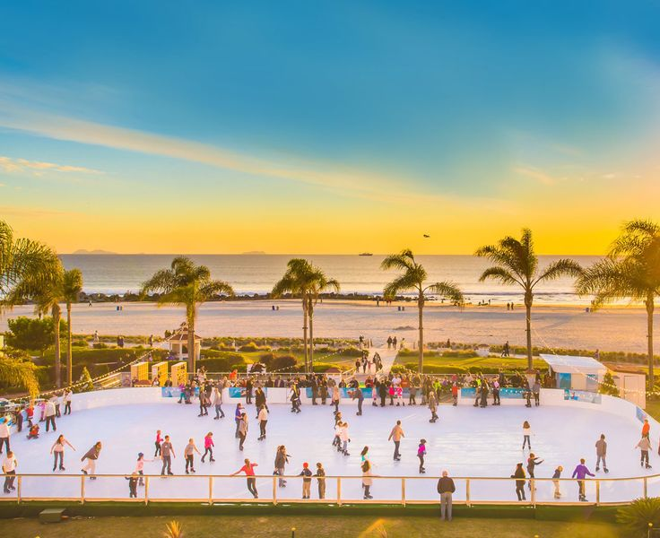 ice rink located seaside at hotel del coronado orange ave coronado san diego rinkice