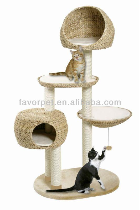 E1 Chipbarod,Natural Banana Leaf Big Cat Tree   Buy Luxury Cat Tree,Indoor