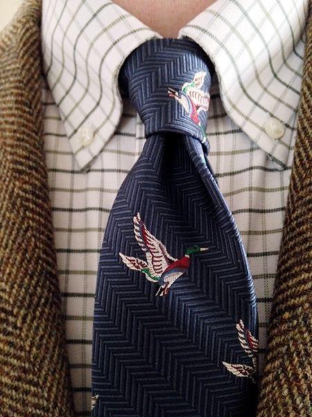 Vintage 3/2 Half-Norfolk jacket by Glenwick for Crowleys, Detroit; L.L. Bean tattersall shirt; Brooks Brothers silk tie.